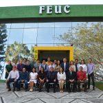 Rector de la UdeC visita FEUC